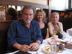 with Brez and Julie Steinberg @ Chez Panisse slow lunch, June '10