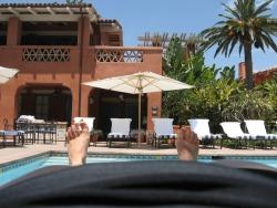 Relaxing at Rancho Valencia July 09