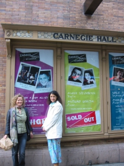 Lisa with Iva Bittova, Carnegie Hall