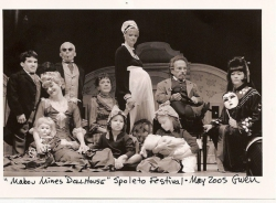 Lisa with the Dollhouse Cast