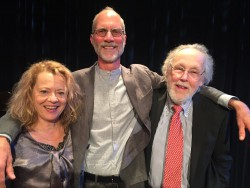 """with John Luther Adams and Barry Lopez post-Fuse solo show ""The Pleasure of Being Lost"" @ Symphony Space, NYC May 2017"""