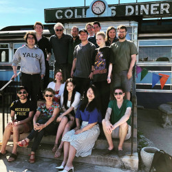 Norfolk New Music Workshop Collins Diner breakfast 2019